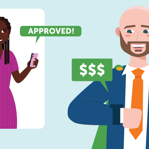 A Buyer and her agent finding out that she has been approved to make cash offers through Accept.inc to give her a four times better chance of winning
